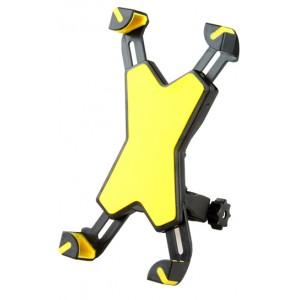 Двухплоскостной велосипедный держатель на руль для гаджетов 3.5-6.5 дюймов Желтый