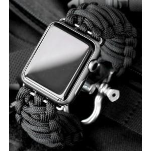 Тканевый ремешок Милитари с металлической пряжкой и металлическим коннектором для Apple Watch 42мм