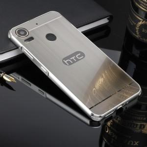 Двухкомпонентный чехол c металлическим бампером с поликарбонатной накладкой и текстурным покрытием Металл для HTC Desire 10 Pro