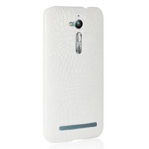 Чехол накладка текстурная отделка Кожа для ASUS ZenFone Go ZB500KL/ZB500KG Белый