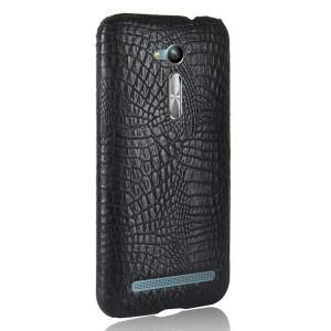 Чехол накладка текстурная отделка Кожа для ASUS ZenFone Go ZB500KL/ZB500KG Черный