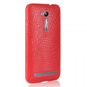 Чехол накладка текстурная отделка Кожа для ASUS ZenFone Go ZB500KL/ZB500KG Красный