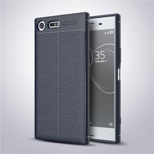 Силиконовый матовый непрозрачный дизайнерский фигурный чехол с текстурным покрытием Кожа для Sony Xperia XZ Premium