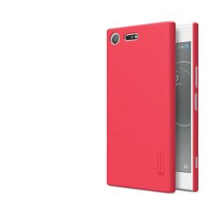 Пластиковый непрозрачный матовый нескользящий премиум чехол с повышенной шероховатостью для Sony Xperia XZ Premium