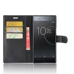Чехол портмоне подставка на силиконовой основе с отсеком для карт на магнитной защелке для Sony Xperia XZ Premium