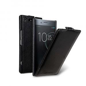 Кожаный чехол вертикальная книжка для Sony Xperia XZ Premium