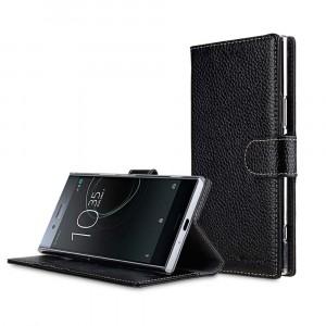 Кожаный чехол портмоне подставка с магнитной застежкой для Sony Xperia XZ Premium