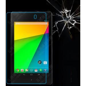 Ультратонкое износоустойчивое сколостойкое олеофобное защитное стекло-пленка для Asus Nexus 7