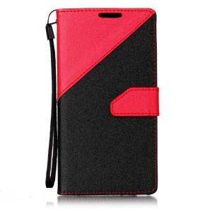 Чехол портмоне подставка на силиконовой основе с отсеком для карт на магнитной защелке для Sony Xperia E5