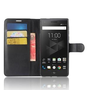Чехол портмоне подставка на силиконовой основе с отсеком для карт на магнитной защелке для BlackBerry Motion  Черный