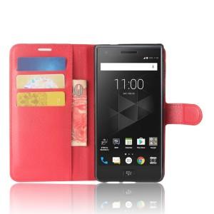 Чехол портмоне подставка на силиконовой основе с отсеком для карт на магнитной защелке для BlackBerry Motion  Красный