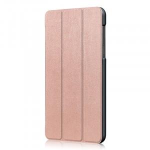Сегментарный чехол книжка подставка на непрозрачной поликарбонатной основе для Lenovo Tab 4 7 Essential  Розовый