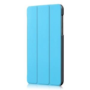 Сегментарный чехол книжка подставка на непрозрачной поликарбонатной основе для Lenovo Tab 4 7 Essential  Голубой