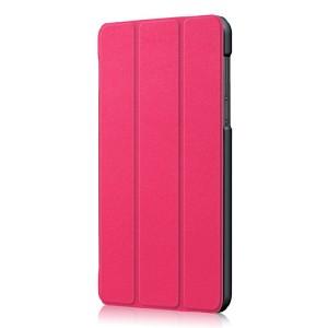 Сегментарный чехол книжка подставка на непрозрачной поликарбонатной основе для Lenovo Tab 4 7 Essential  Пурпурный