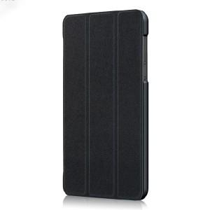 Сегментарный чехол книжка подставка на непрозрачной поликарбонатной основе для Lenovo Tab 4 7 Essential  Черный