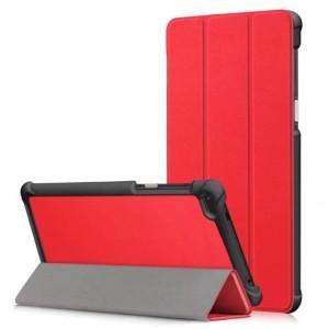 Сегментарный чехол книжка подставка на непрозрачной поликарбонатной основе для Lenovo Tab 4 7