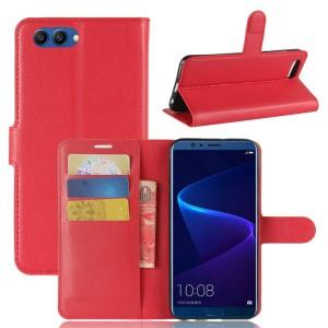 Чехол портмоне подставка на силиконовой основе с отсеком для карт на магнитной защелке для Huawei Honor View 10