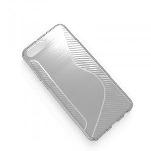 Силиконовый матовый непрозрачный дизайнерский фигурный чехол с нескользящими гранями и текстурой S для Huawei Honor View 10