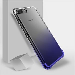 Силиконовый глянцевый полупрозрачный градиентный чехол с усиленными углами для Huawei Honor View 10