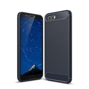 Силиконовый матовый непрозрачный чехол с текстурным покрытием Металлик для Huawei Honor View 10