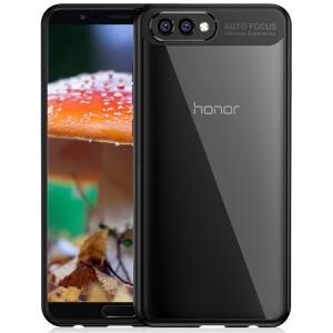 Силиконовый глянцевый полупрозрачный чехол с транспарентной крышкой для Huawei Honor View 10