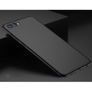 Пластиковый непрозрачный матовый чехол с дополнительной защитой торцов для Huawei Honor View 10