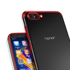 Силиконовый глянцевый полупрозрачный с текстурным покрытием Металлик для Huawei Honor View 10