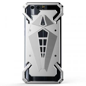 Цельнометаллический противоударный чехол из авиационного алюминия на винтах с мягкой внутренней защитной прослойкой для гаджета с прямым доступом к разъемам для Huawei Honor View 10