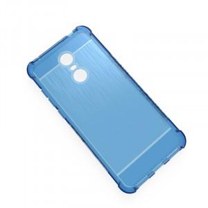 Силиконовый матовый непрозрачный чехол с нескользящими гранями, усиленными углами и текстурным покрытием Металлик для Xiaomi RedMi 5 Plus