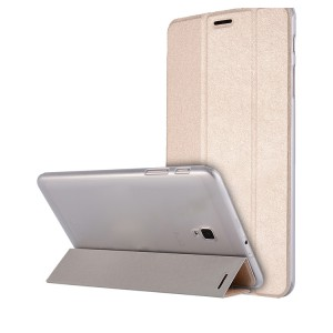 Сегментарный чехол книжка подставка текстура Золото на транспарентной поликарбонатной основе для Samsung Galaxy Tab A 8.0 (2017)