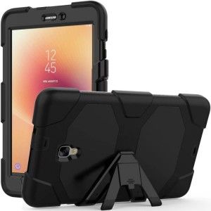 Противоударный двухкомпонентный силиконовый матовый непрозрачный чехол с поликарбонатными вставками для экстрим защиты с встроенной ножкой-подставкой для Samsung Galaxy Tab A 8.0 (2017)
