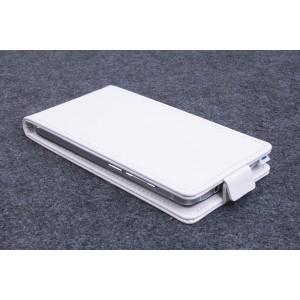 Чехол вертикальная книжка на клеевой основе на магнитной защелке для BQ Practic  Белый