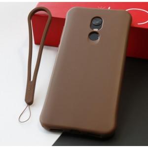Противоударный силиконовый матовый непрозрачный чехол с нескользящим премиум софт-тач покрытием для Xiaomi RedMi 5 Plus