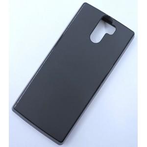 Силиконовый матовый непрозрачный чехол для Doogee BL12000  Черный
