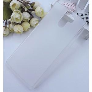 Силиконовый матовый полупрозрачный чехол для Doogee BL12000 Белый