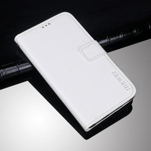 Глянцевый чехол портмоне подставка на силиконовой основе на магнитной защелке для Doogee BL12000  Белый