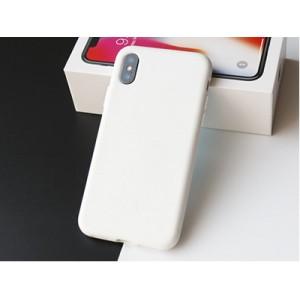 Противоударный силиконовый матовый непрозрачный чехол с нескользящим премиум софт-тач покрытием для Iphone X 10/XS Белый