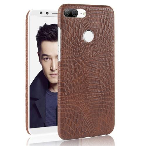 Чехол накладка с текстурным покрытием Кожа для Huawei Honor 9 Lite Коричневый