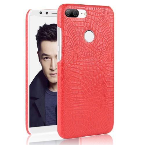 Чехол накладка с текстурным покрытием Кожа для Huawei Honor 9 Lite Красный