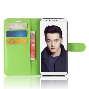 Чехол портмоне подставка на силиконовой основе с отсеком для карт на магнитной защелке для Huawei Honor 9 Lite