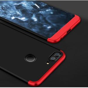 Пластиковый непрозрачный матовый чехол сборного типа с улучшенной защитой элементов корпуса для Huawei Honor 9 Lite