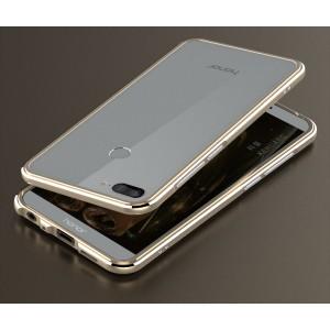 Металлический округлый бампер сборного типа на винтах для Huawei Honor 9 Lite