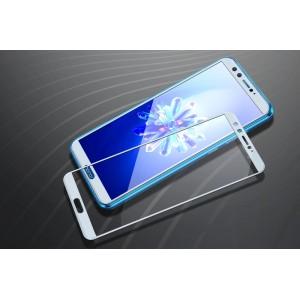 Полноэкранное ультратонкое износоустойчивое сколостойкое олеофобное защитное стекло-пленка для Huawei Honor 9 Lite Белый