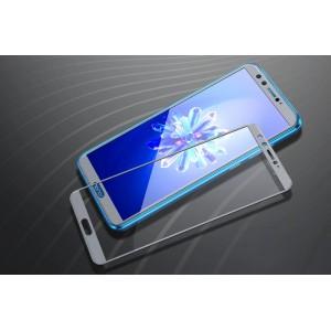 Полноэкранное ультратонкое износоустойчивое сколостойкое олеофобное защитное стекло-пленка для Huawei Honor 9 Lite Серый