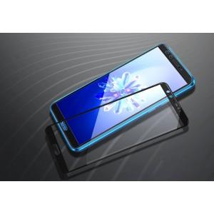 Полноэкранное ультратонкое износоустойчивое сколостойкое олеофобное защитное стекло-пленка для Huawei Honor 9 Lite Черный