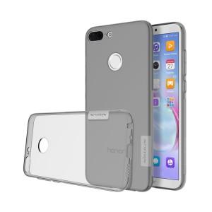 Силиконовый глянцевый полупрозрачный дизайнерский фигурный чехол с нескользящими гранями и дополнительной защитой торцов для Huawei Honor 9 Lite