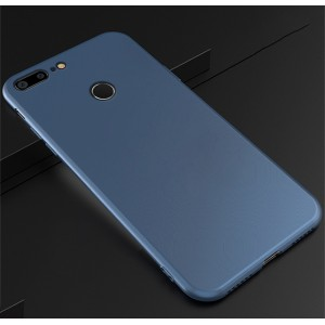 Силиконовый матовый непрозрачный чехол для Huawei Honor 9 Lite