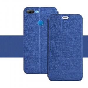 Чехол горизонтальная книжка подставка текстура Линии на силиконовой основе для Huawei Honor 9 Lite