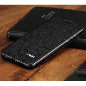 Чехол горизонтальная книжка подставка текстура Соты на силиконовой основе для Huawei Honor 9 Lite
