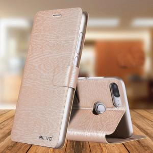 Чехол горизонтальная книжка подставка текстура Дерево на магнитной защелке для Huawei Honor 9 Lite